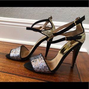 Zara strapy glitter heels